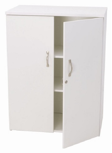 Rent White Deluxe Lockable Cabinet £70.00 short term for exhibitions and shows in London Birmingham and UK